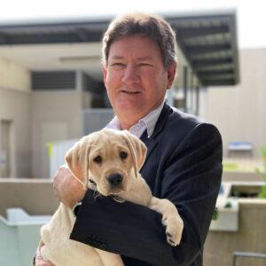 Tim Platts with Labrador Puppy